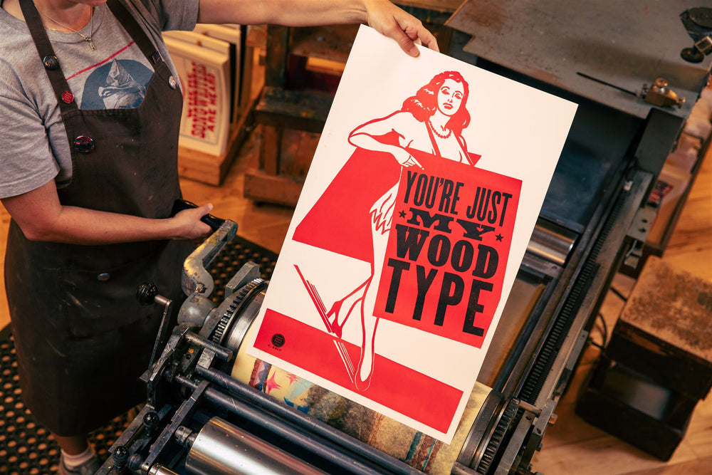 Load image into Gallery viewer, Sandwich Girl Wood Type Poster