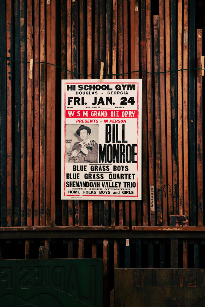 Bill Monroe Black/Red Poster