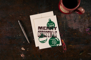 Merry Christmas Ornament Trio Card