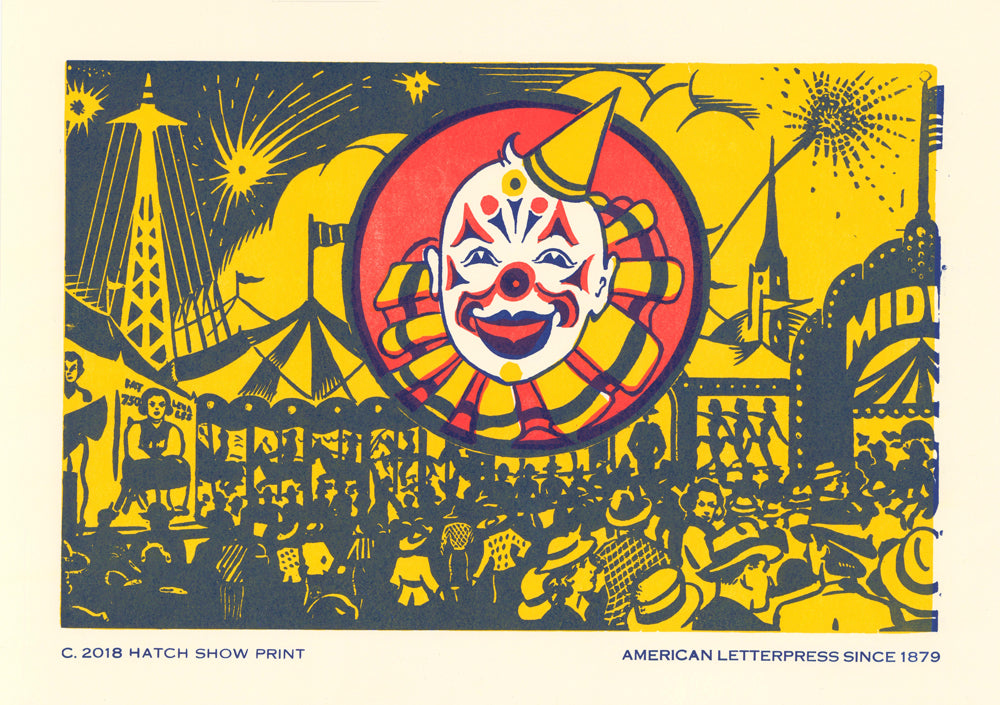 Clown Window Card Poster