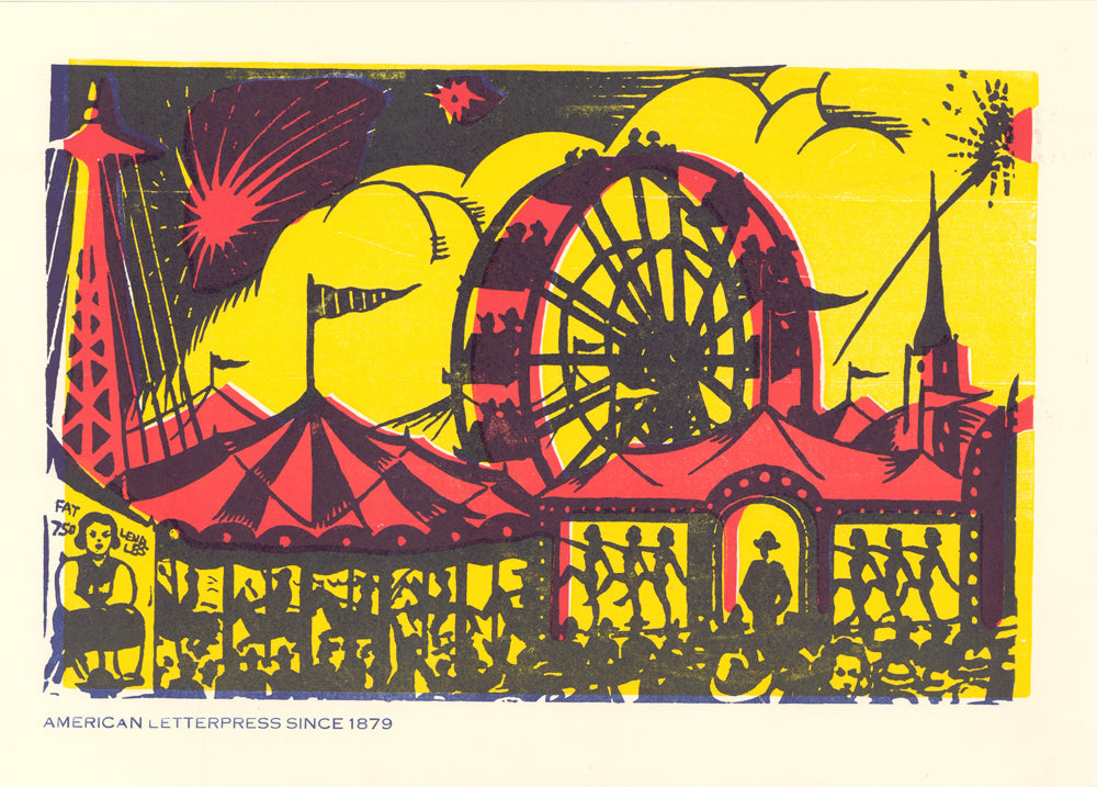 Ferris Wheel Window Card Poster