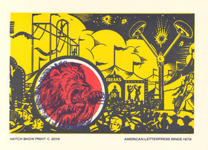 Lion Window Card Poster
