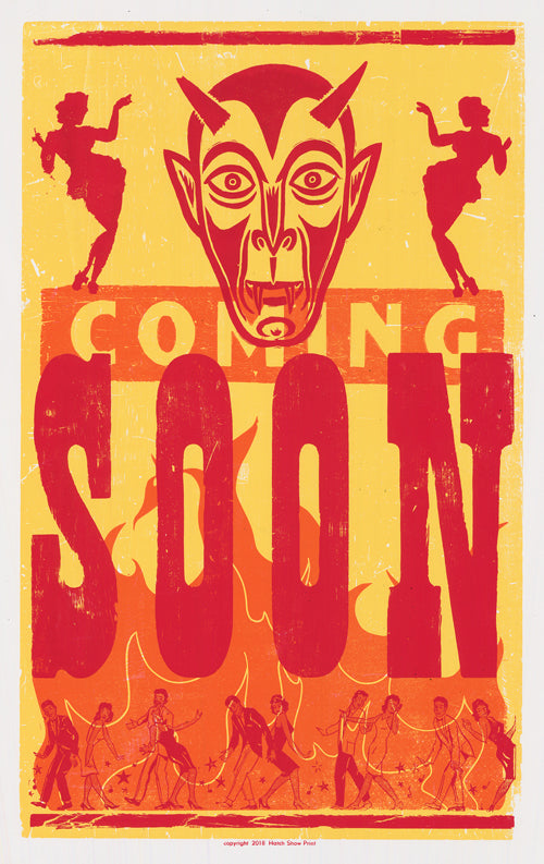 Coming Soon Devil! Fire! Dancers! Poster