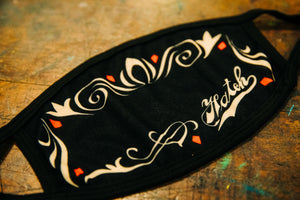 Hatch Flourish Design Face Mask