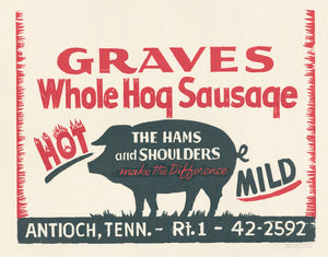 Load image into Gallery viewer, Graves Sausage Print