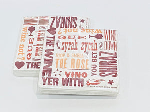 Hatch Wine Beverage Napkins