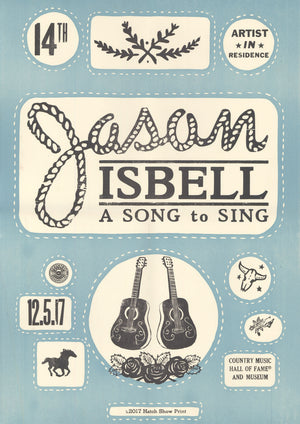 Load image into Gallery viewer, Jason Isbell Artist-In-Residence Poster 12/5/17