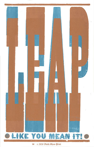 Leap Like You Mean It Poster