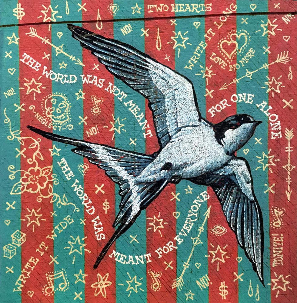Load image into Gallery viewer, Jon Langford - Like A Swallow Print