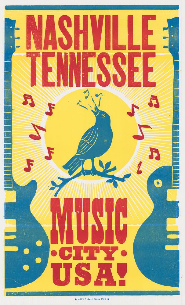 Load image into Gallery viewer, Bluebird Music City Poster
