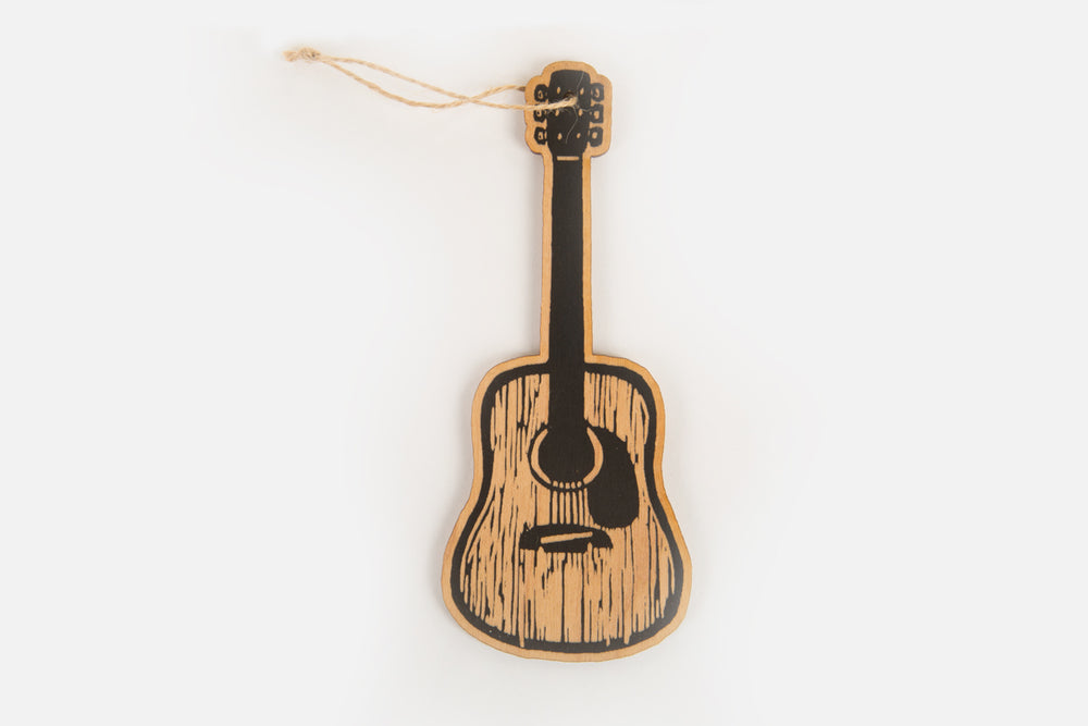 Acoustic Guitar Wood Ornament