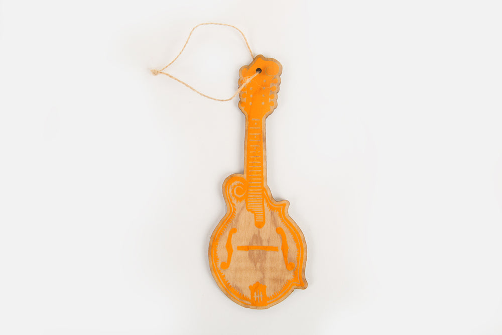 Load image into Gallery viewer, Mandolin Wood Ornament