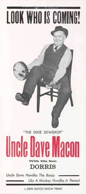 Small Uncle Dave Macon Poster