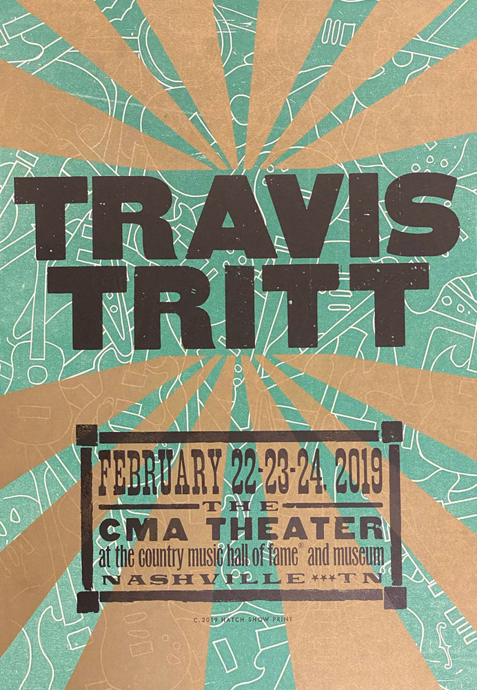Load image into Gallery viewer, Travis Tritt Concert Poster February 22-24, 2019