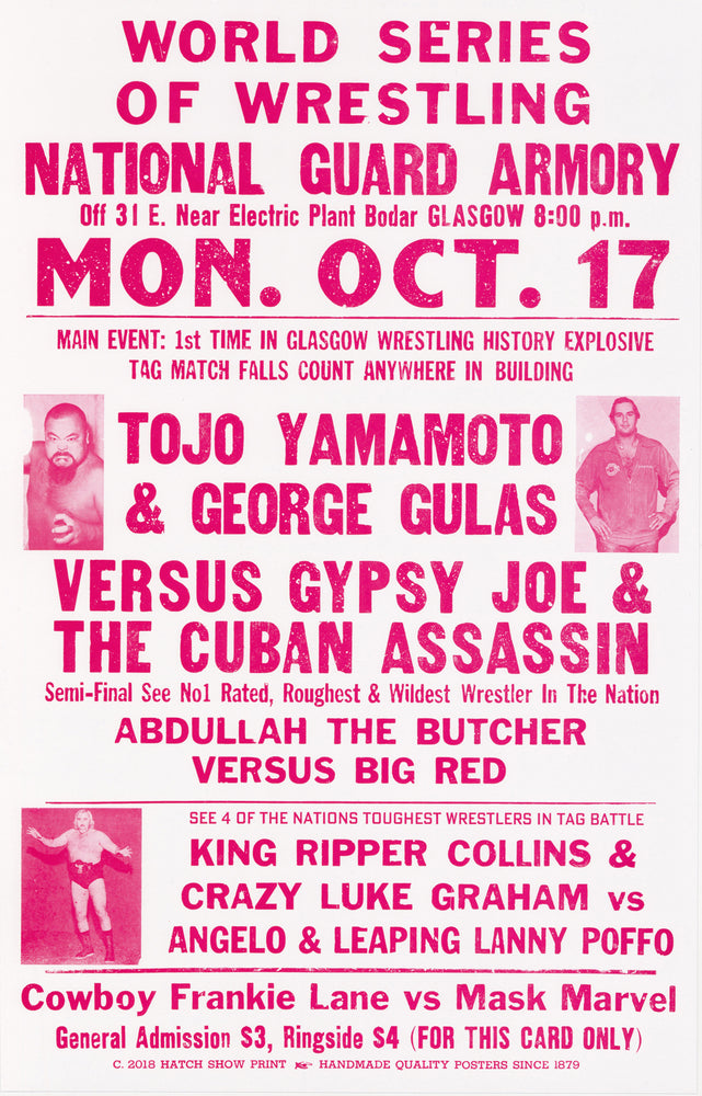 Load image into Gallery viewer, World Series of Wrestling Poster