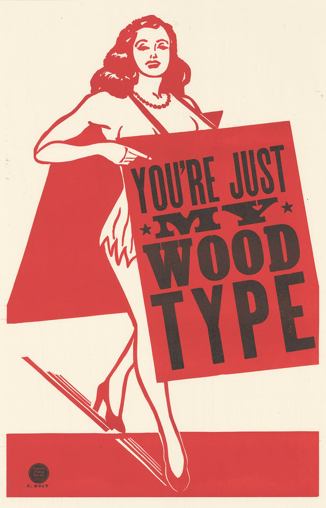 Sandwich Girl Wood Type Poster