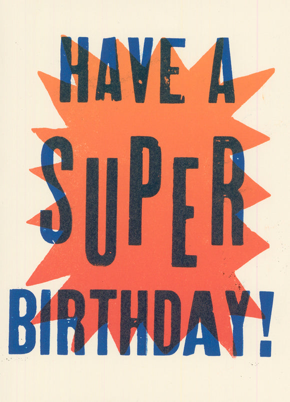 SUPER BIRTHDAY! CARD
