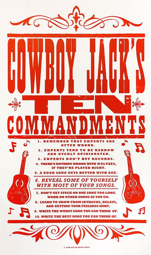 Load image into Gallery viewer, Pre-Order Cowboy Jack's Ten Commandments Poster