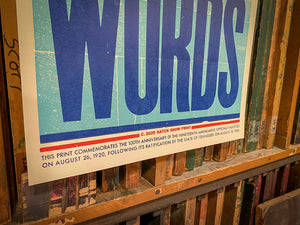 Deeds Not Words Poster