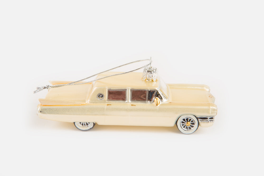 Load image into Gallery viewer, Elvis Presley Cadillac Blown Glass Ornament