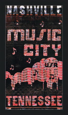 Load image into Gallery viewer, Framed Music City Cloud Make-Ready Poster