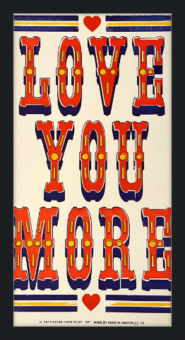 Load image into Gallery viewer, Framed Love You More Poster