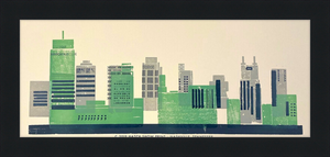 Load image into Gallery viewer, Framed Nashville Skyline Poster
