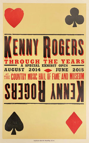 Kenny Rogers Hall of Fame Exhibit Poster