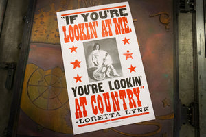 Loretta Lynn You're Lookin' at Country Poster