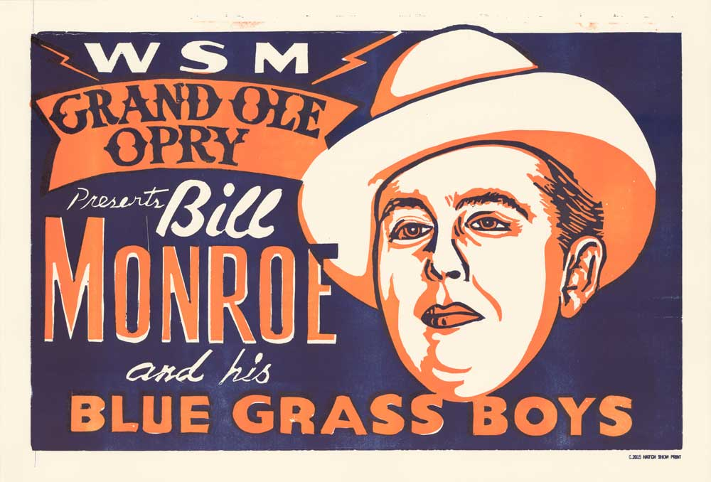 Load image into Gallery viewer, Bill Monroe Horizontal Poster