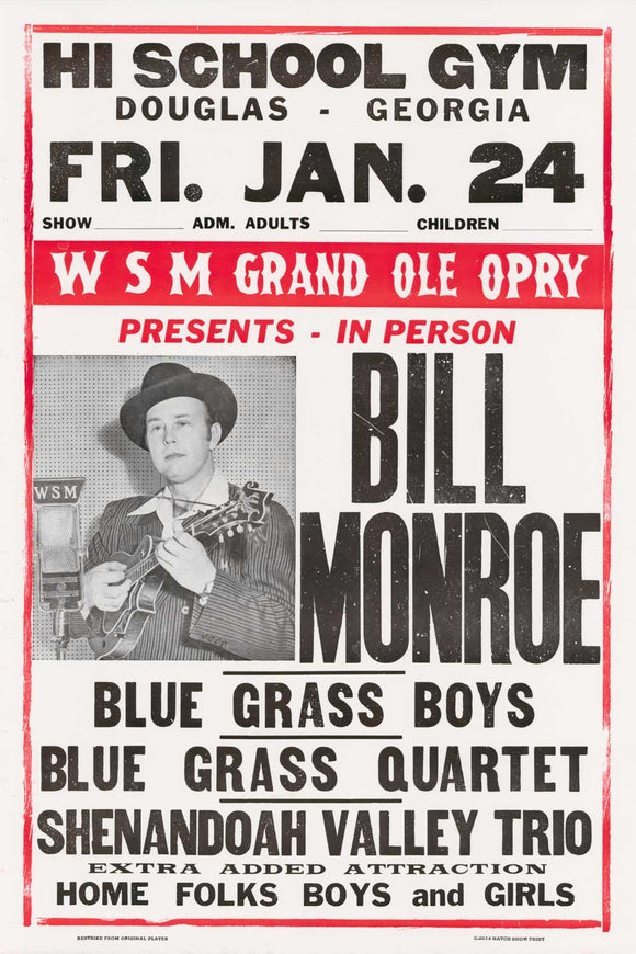 Bill Monroe-Black/Red