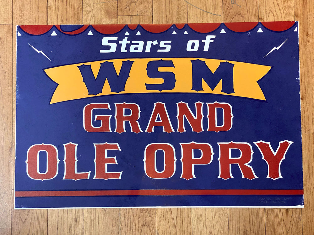 Horizontal WSM Grand Ole Opry One-Sheet Print