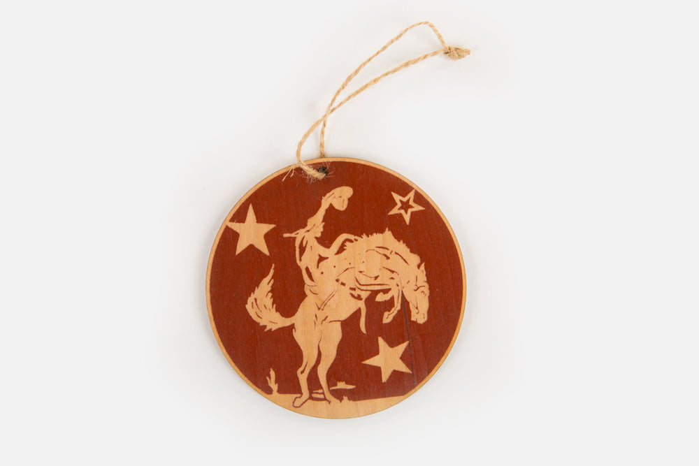 Load image into Gallery viewer, Bronco Wood Ornament
