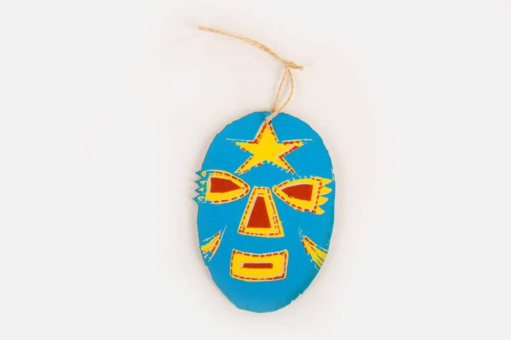 Load image into Gallery viewer, Luchador Wood Ornament