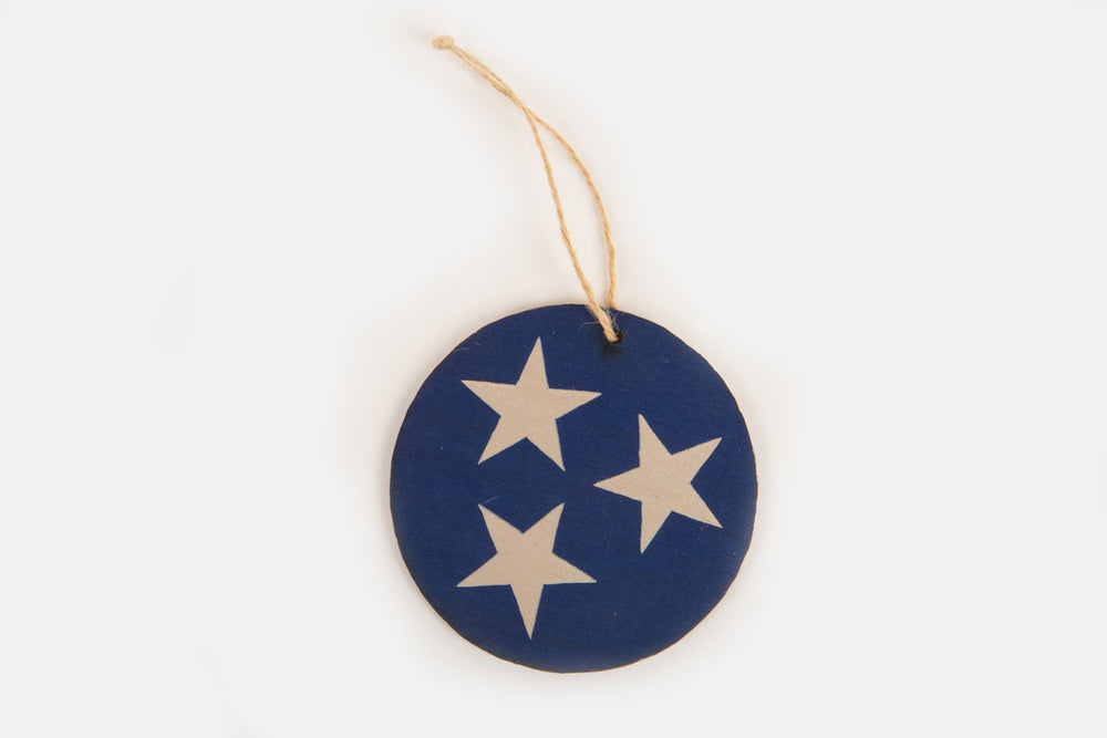 Tennessee Tri-Star Wood Ornament