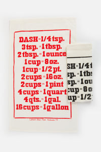 RED MEASUREMENT TEA TOWEL