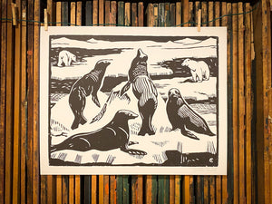 Load image into Gallery viewer, Sea Lion Print