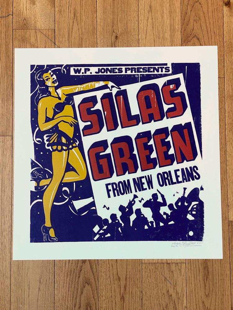 Load image into Gallery viewer, Silas Green Girl w/ Band Print