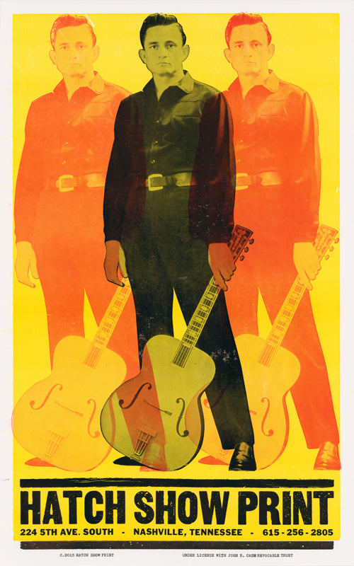 Triple Johnny Cash Poster