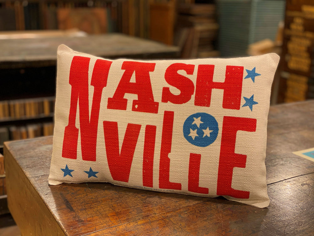Load image into Gallery viewer, Nashville Tri-Star Pillow
