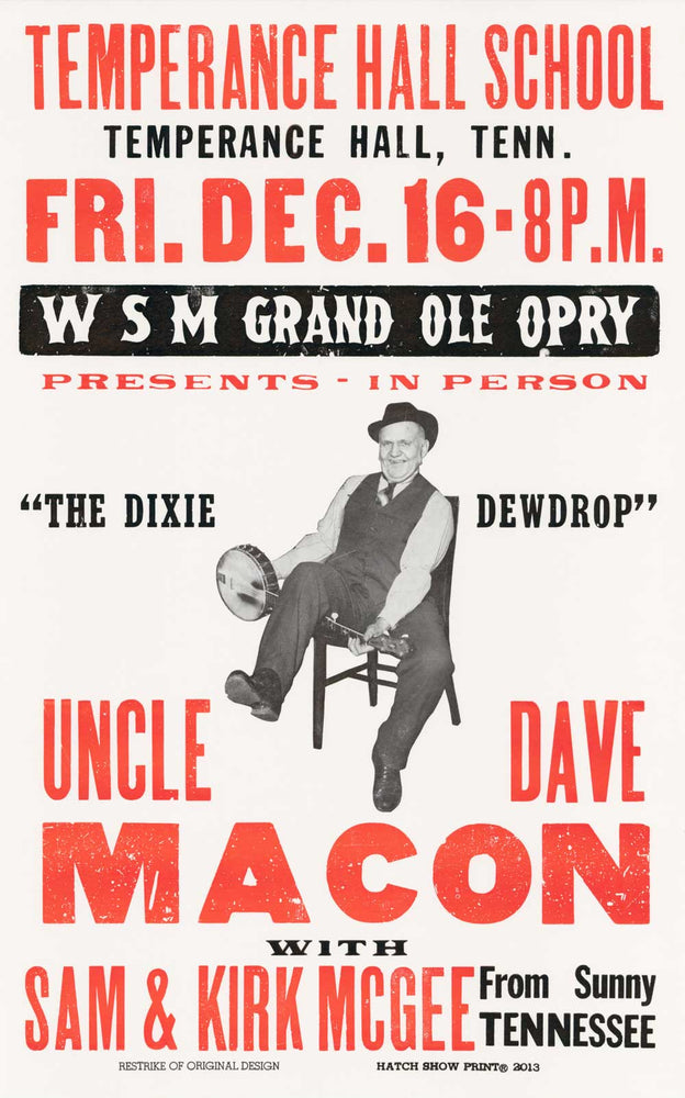 Load image into Gallery viewer, Uncle Dave Macon Poster