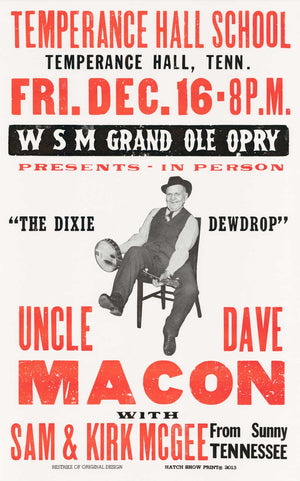Uncle Dave Macon Poster