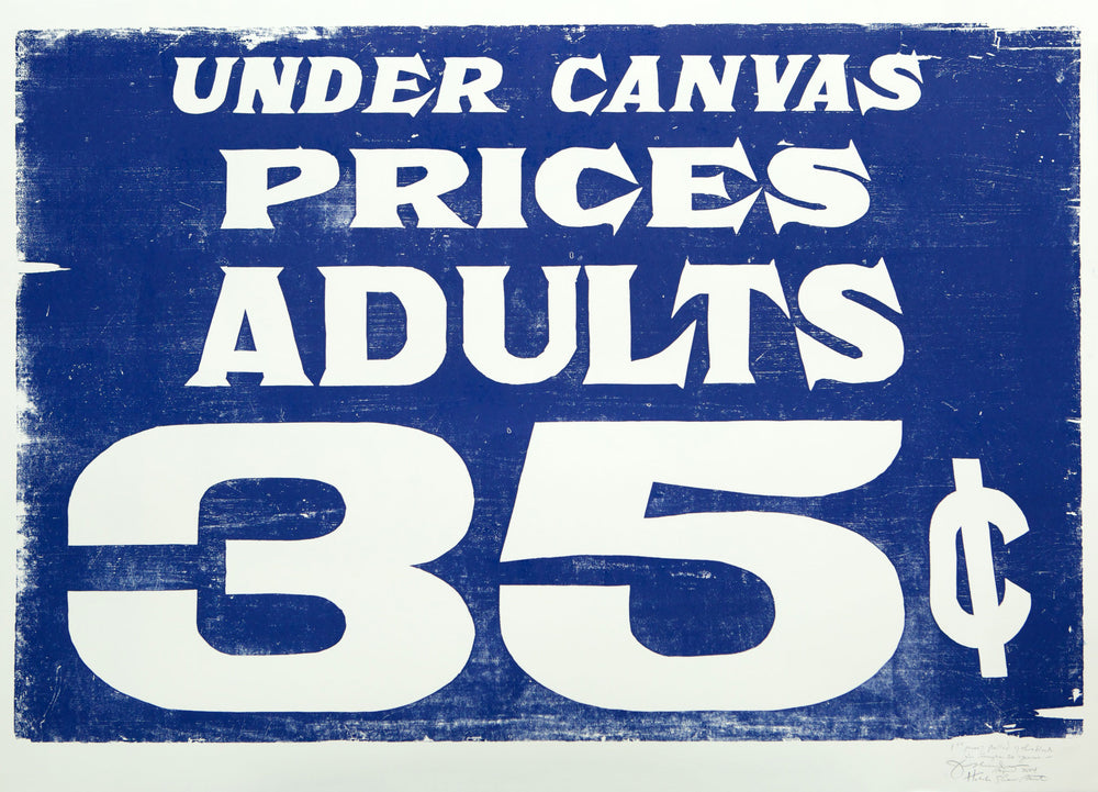 Under Canvas, Adults 35 Cents Print