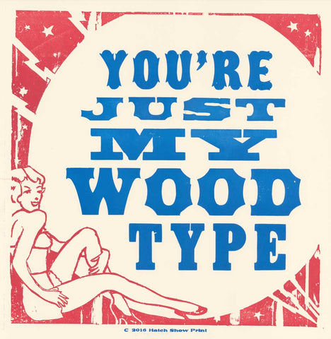 Just My Wood Type Square