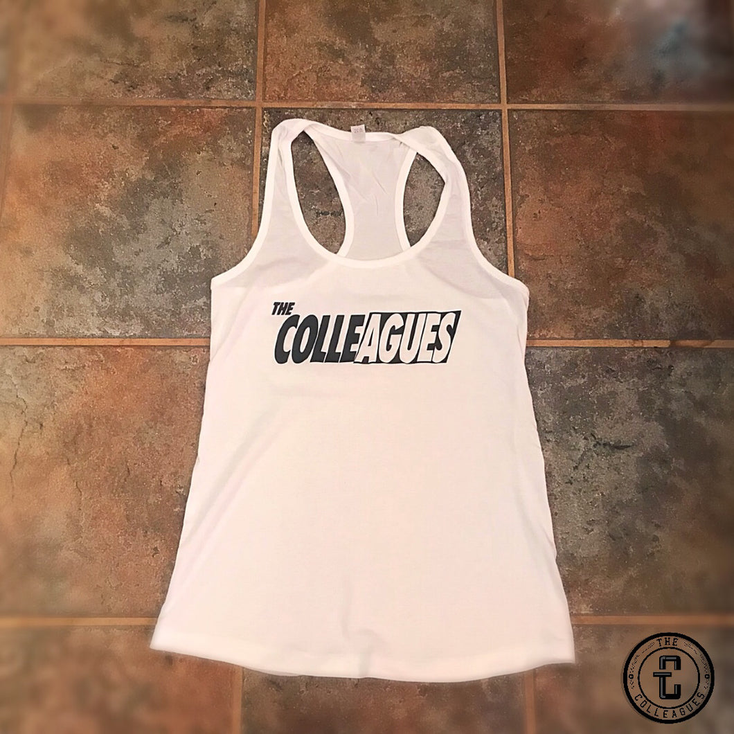 Women's White Colleagues tank top