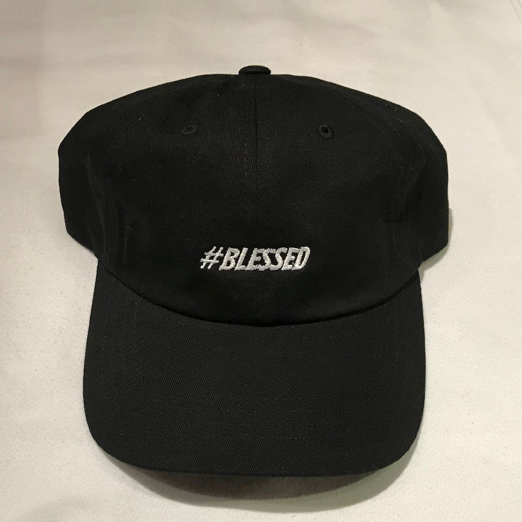 Black #Blessed Dad Hat