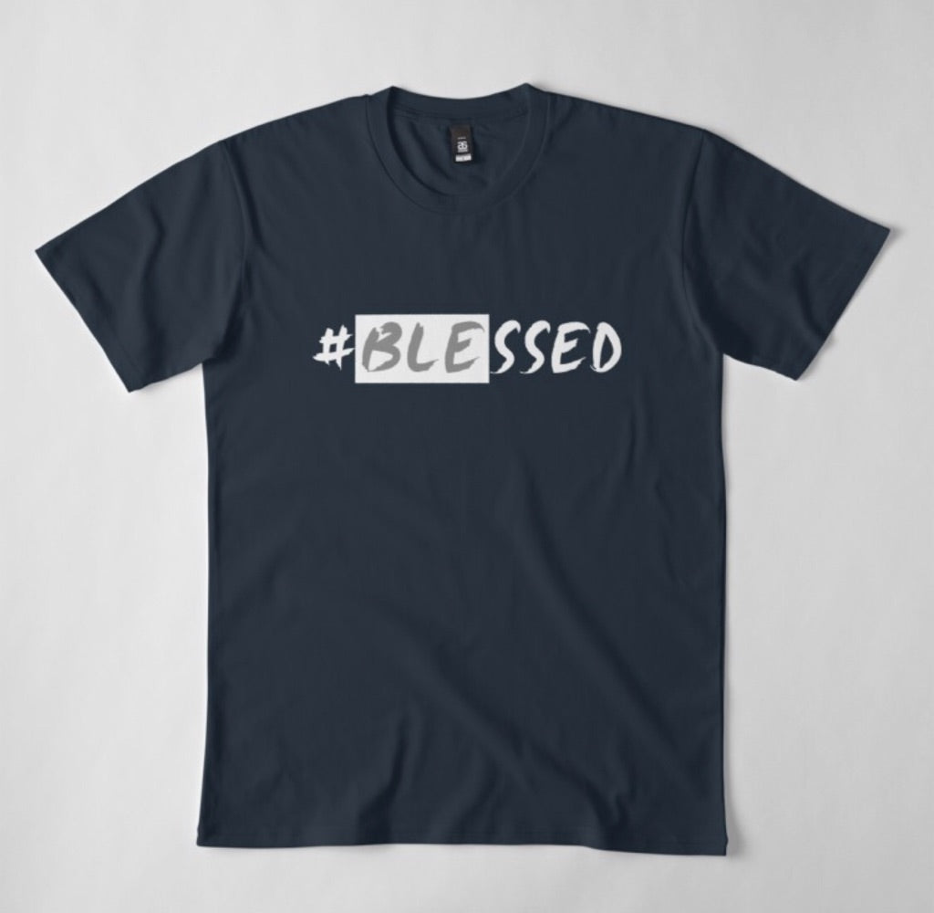 Men's Navy Blue #Blessed tshirt