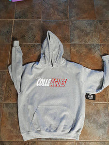 Heather Gray and Red Colleagues hoodie