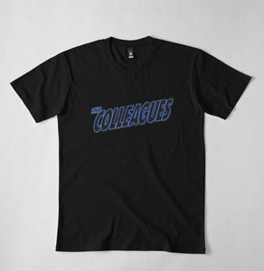 Men's Black and Blue Colleagues tshirt