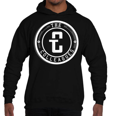 The Logo Hoodie (White on Blk)